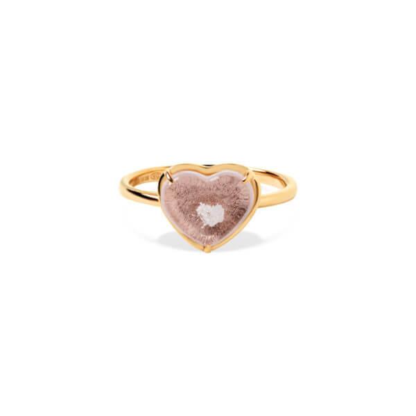 純銀愛心爪鑲戒指