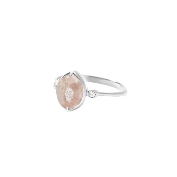 純銀橢尖形戒指