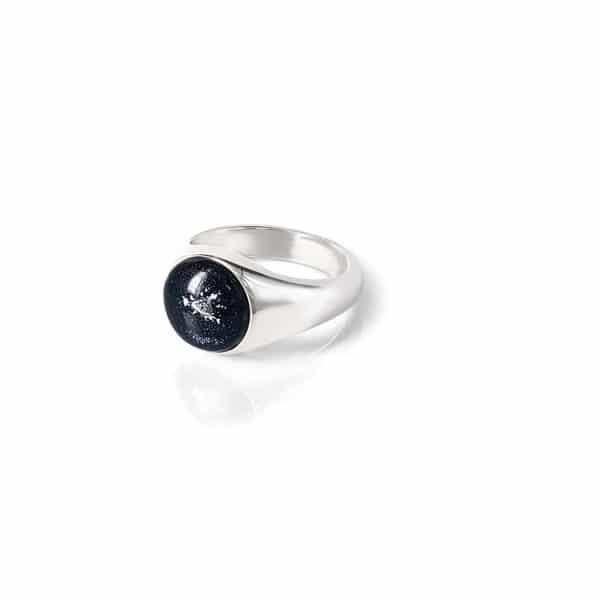 純銀男款大肚戒指