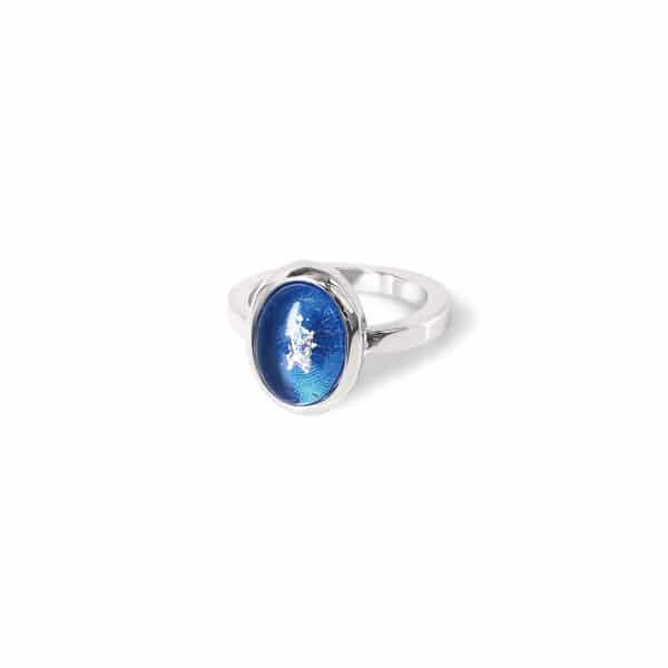 純銀男款橢圓戒指