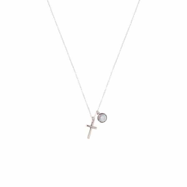 純銀立體十字細鍊