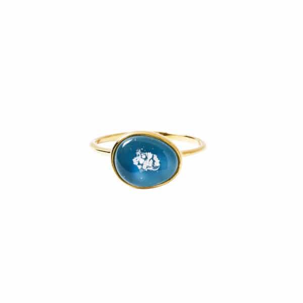 純銀蛋形包鑲戒指02