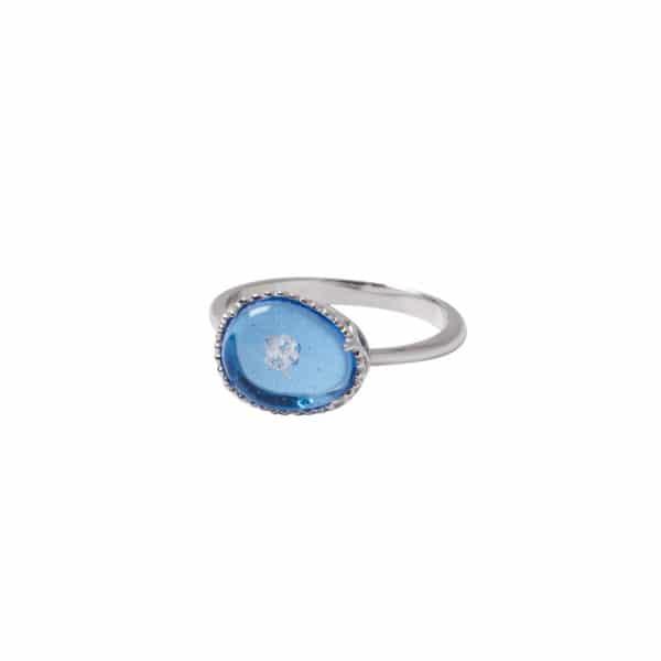 純銀蛋形花苞戒指