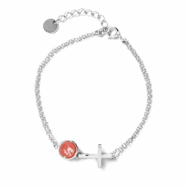 純銀鏤空十字手鍊