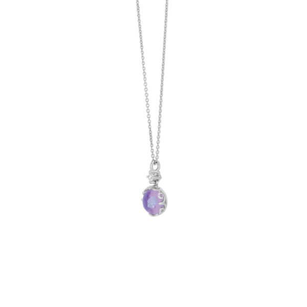 18K花苞圓形鑽石項鍊