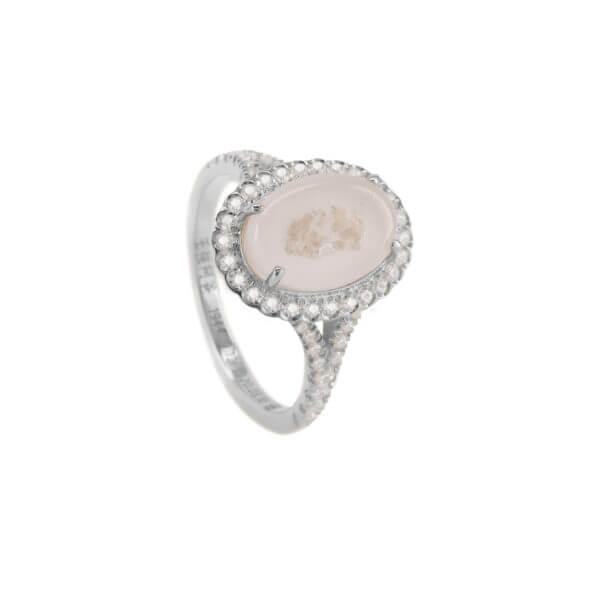 18K 橢圓鑽石戒指02