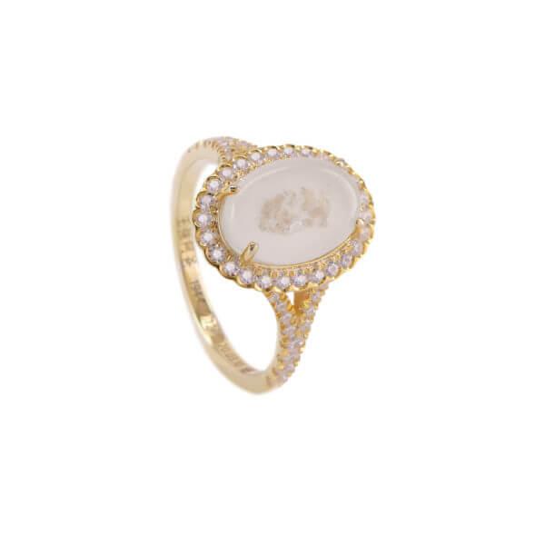 18K 橢圓鑽石戒指03