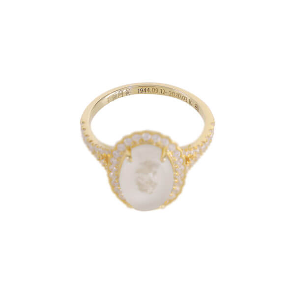 18K 橢圓鑽石戒指06