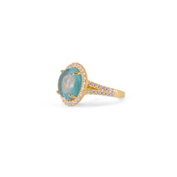 18K 詠圓爪鑲鑽石戒指