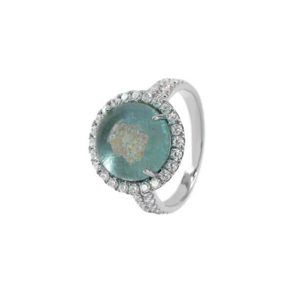 18K 詠圓爪鑲鑽石戒指02