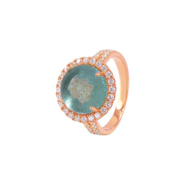 18K 詠圓爪鑲鑽石戒指03